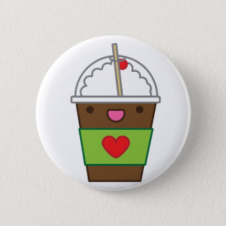 Ice mocha coffee pinback button