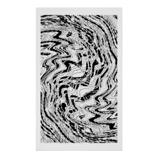 Ice Moon Agate Poster