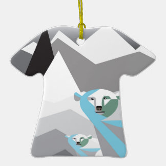 Ice-Mountains.jpg Double-Sided T-Shirt Ceramic Christmas Ornament