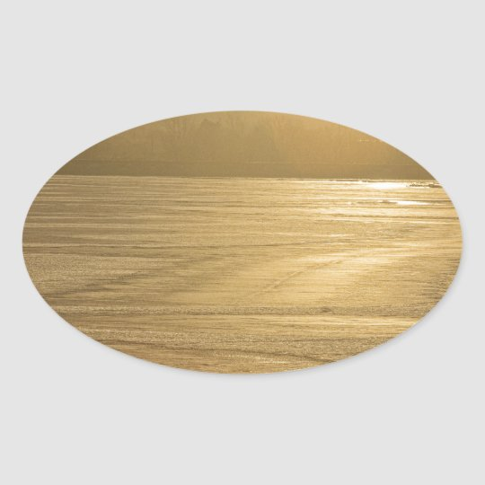 Ice of Gold Oval Sticker