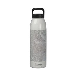 Ice on the ground drinking bottles