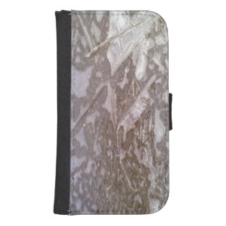 Ice on the ground phone wallet cases