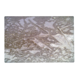 Ice on the ground placemat