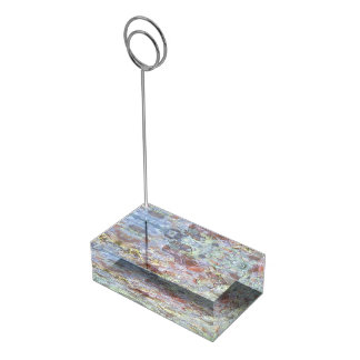 Ice on the ground table card holders