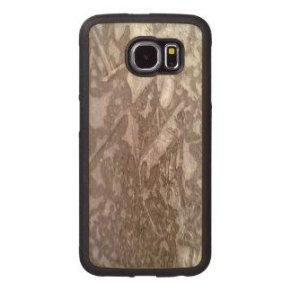 Ice on the ground wood phone case