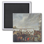 Ice on the Lagoon 2 Inch Square Magnet