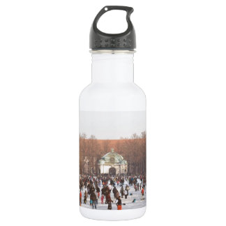 Ice on the Nymphenburg Palace Canal Stainless Steel Water Bottle