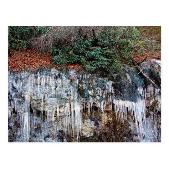 Ice on the rocks postcard