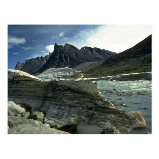 Ice on the shoreline of the Weasel River, Baffin I Postcard