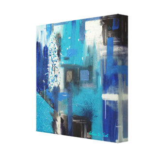 Ice -Original Mixed Media Abstract  Painting Print Gallery Wrapped Canvas