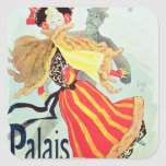 Ice Palace', Champs Elysees, Paris, 1893 Square Stickers