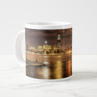 Ice partially melted on Charles River in Boston Giant Coffee Mug