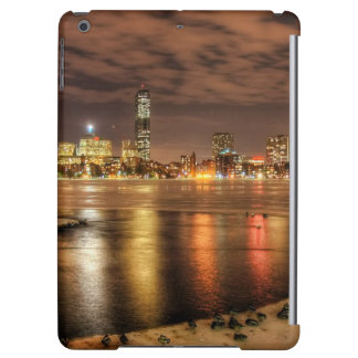 Ice partially melted on Charles River in Boston iPad Air Covers