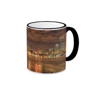 Ice partially melted on Charles River in Boston Ringer Mug