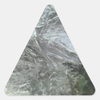 Ice pattern triangle sticker