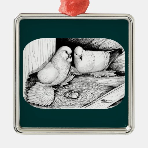 Ice Pigeons Christmas Ornament
