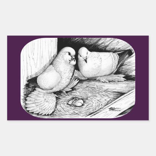 Ice Pigeons Rectangular Sticker