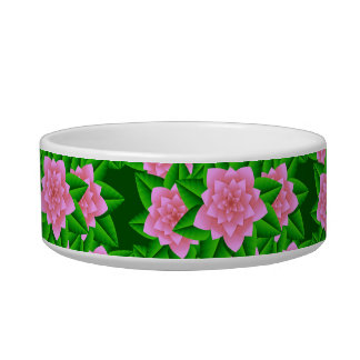 Ice Pink Camellias and Green Leaves Bowl