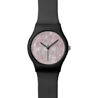 Ice Pink Rose Mother Of Pearl Natural White Dial Wrist Watch