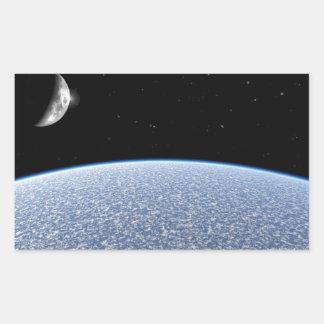 Ice Planet Rectangular Sticker