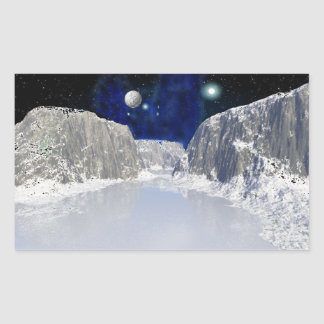 Ice Planet Space Scene Stickers