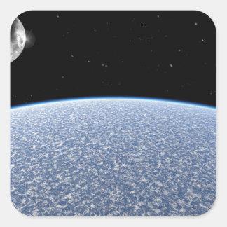 Ice Planet Square Sticker