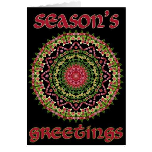 Ice Plant Christmas Card Mandala