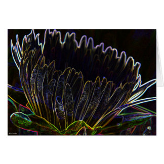 Ice PLant flower Neon 1 Card