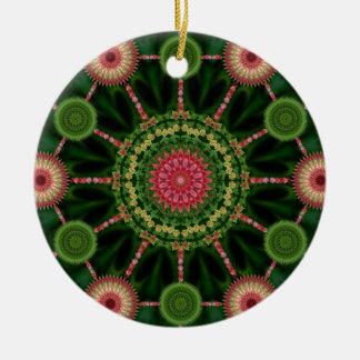 Ice Plant Mandala & Array Christmas Ornament