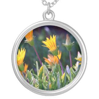 Ice Plant Round Pendant Necklace