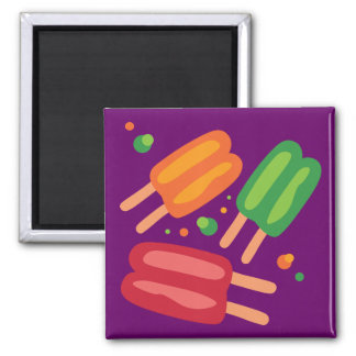 Ice Pops 2 Inch Square Magnet