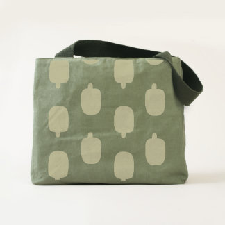 Ice pops canvas utility tote