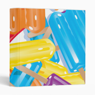 ice pops notebook 3 ring binder