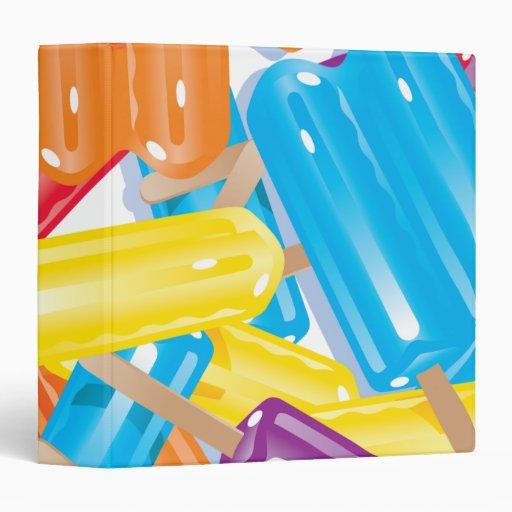 ice pops notebook vinyl binder