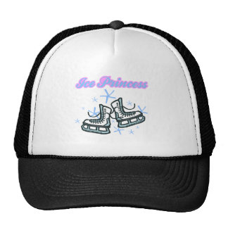 ice princes snowflakes and ice skates design trucker hat