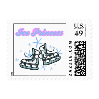 ice princes snowflakes and ice skates design stamps