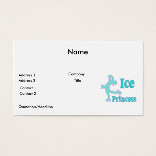 ice princess figure skating pastel design business card