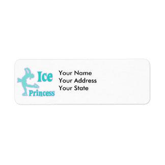 ice princess figure skating pastel design return address label