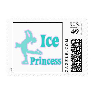 ice princess figure skating pastel design postage stamps