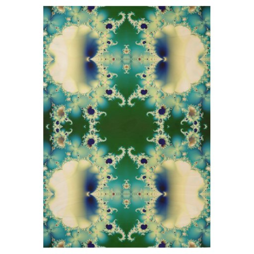 Ice Princess Fractal Wood Poster