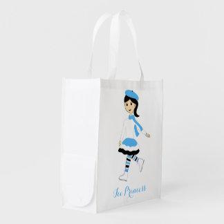 Ice Princess Grocery Bags