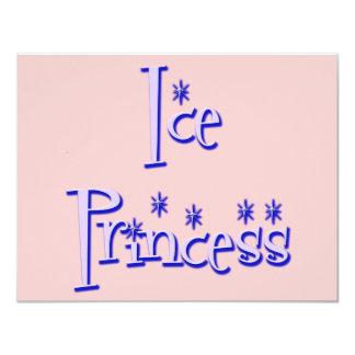 Ice Princess Ice Skating Birthday Party Invitation