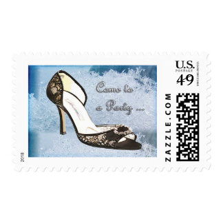 Ice Princess Lace Pumps Invited Stamps