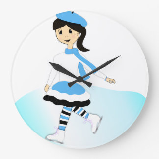 Ice Princess Large Clock