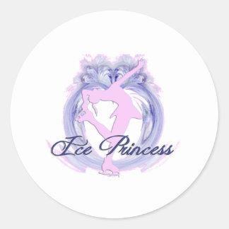 Ice Princess Pink/Purple Classic Round Sticker
