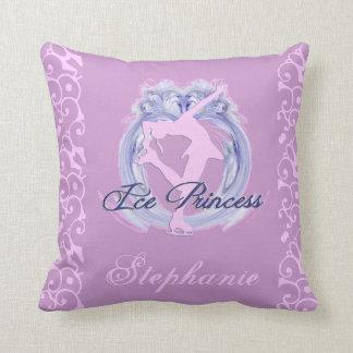 Ice Princess Pink/Purple Figure Skater Throw Pillow