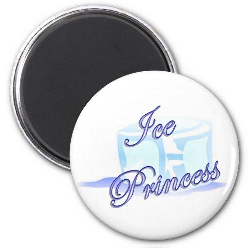 Ice Princess Round Magnet