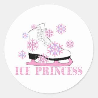 Ice Princess Skate Classic Round Sticker