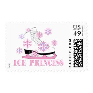Ice Princess Skate Postage Stamp