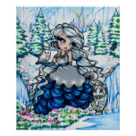 Ice Princess Snow Owl Winter Fantasy Fairy Art Poster